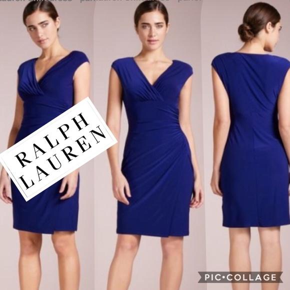 84415276 Lauren Ralph Lauren Dresses | Nwt Adara Shirred Midi Dress | Poshmark
